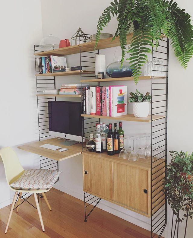 Work and Play #StringShelfie #stringsystem #stringshelf #scandinavian #shelving #interiordesign #decor #greatdanestorage #homedecor
