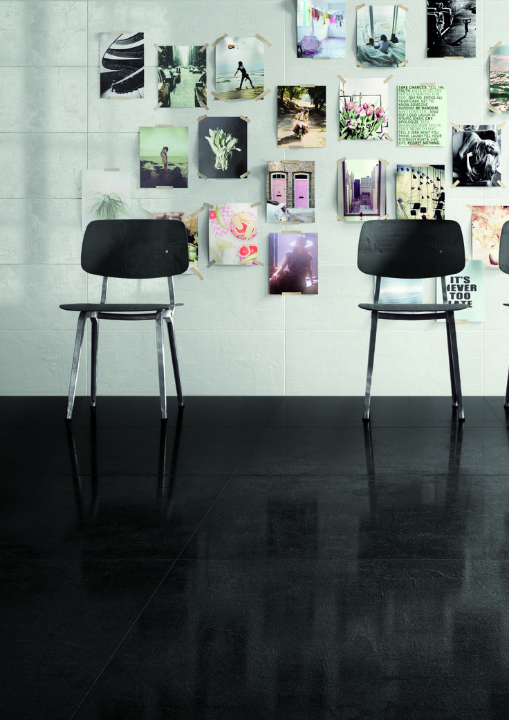 Black concrete tiles brand new and available at Signorino Tile Gallery