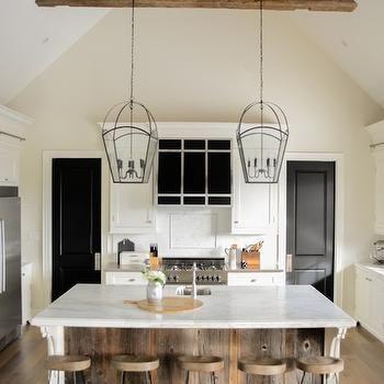 transitional kitchen lighting. barn board island transitional kitchen benjamin moore gray mist lvz design lighting