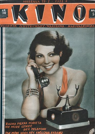 Nora Ney on the cover of Kino, 1933.