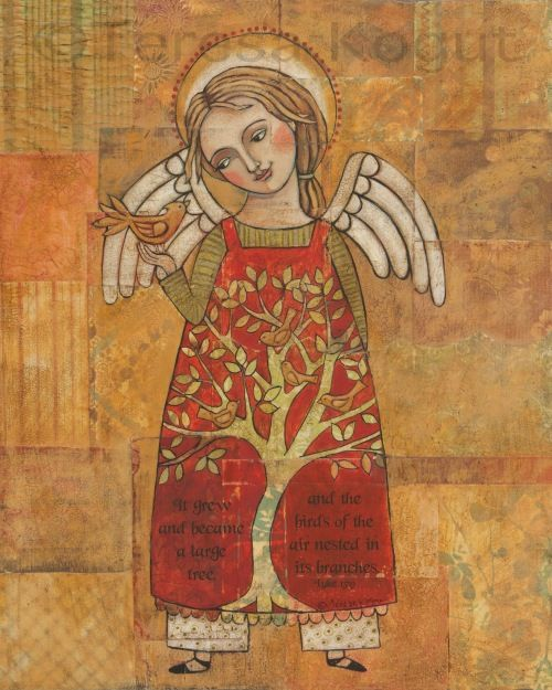 Although I am not a fan of scripture - this painting of an angel by Teresa Kogut is so beautiful.