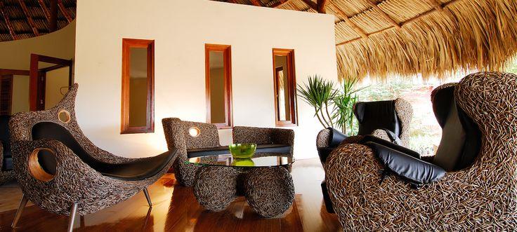 Design details at Morena Eco Resort in Curaçao.