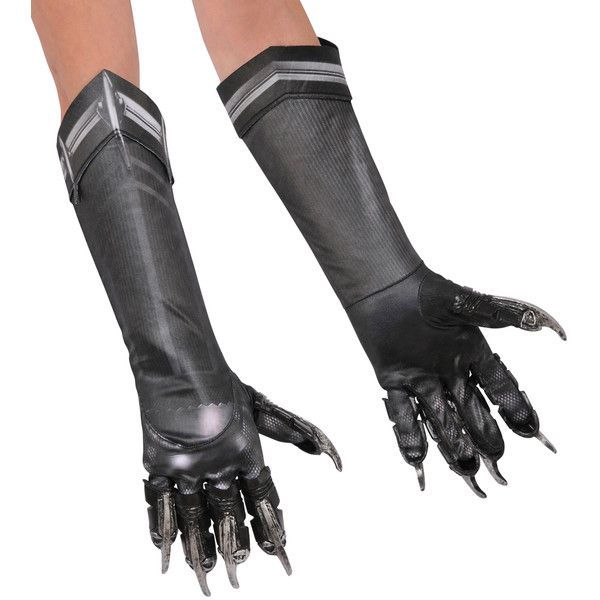 Marvel Long Black Panther Gloves ($12) ❤ liked on Polyvore featuring accessories, gloves and long gloves