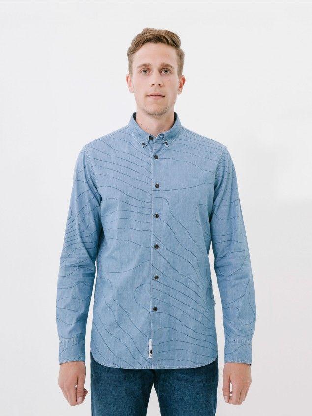 L/S Carto Blue Shirt //