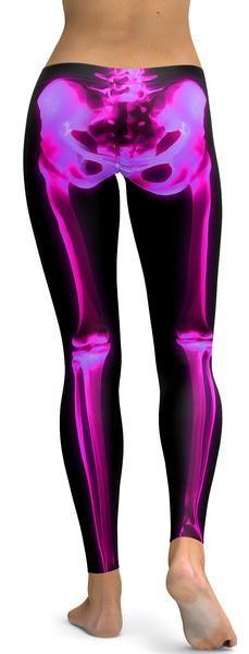 Pink X-ray Skeleton Leggings
