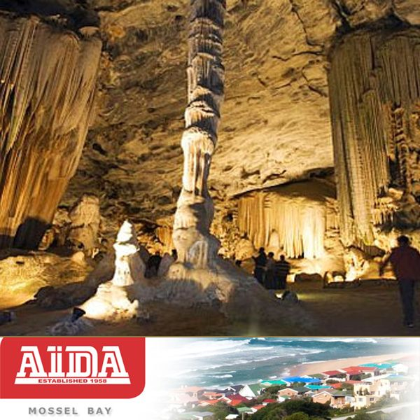 Attractions in the Garden Route. The Cango Caves, Oudtshoorn. Though damaged through shortsighted tourism schemes in the 1960s, these caves are still worth a visit for their eerie dark tunnels and stunning limestone formations #cave #attractions #gardenroute
