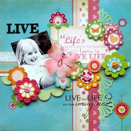Bubblegum Hills Collection Layout 'Live' by Trudi Harrison