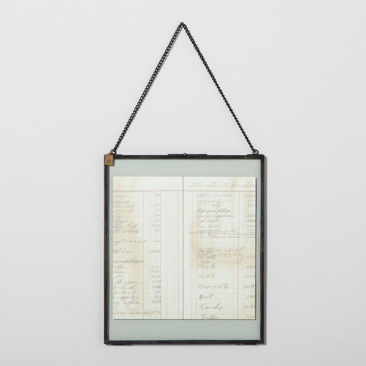 Pressed Glass Hanging Frame for family recipes