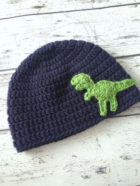 Dinosaur Hat Crochet T-Rex Animal Hat Children's by makinitmama