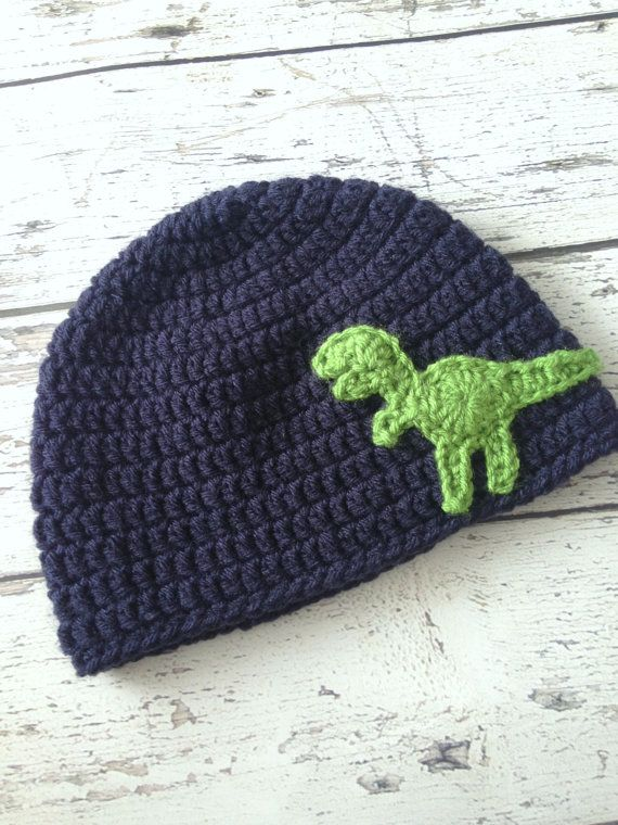 Dinosaur Hat Crochet T-Rex Animal Hat Children's by makinitmama