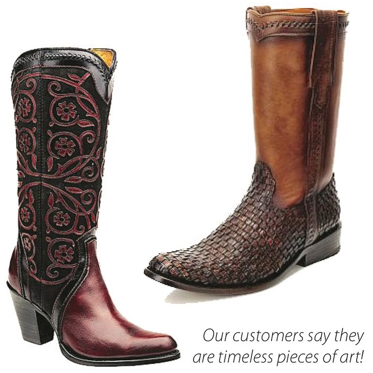 Stylish leather boots handmade of authentic artisan tradition by Cuadra Mexican artisans.  Shop in Downtown Vancouver or online with free shipping within Canada. #cuadraboots #cowgirl #canadiancowgirl #handmade #cowboy #canadiancowboy #countrystyle #westernstyle #westernboots #roperboots #artisanboots #countrymusic #cowboyboots #cowgirlboots #madeinmexico #westernstyle #stampede #calgarystampede #rodeo #vancouver #calgary #bestwesternbootsinvancouver #leatherart #downtownvancouver…