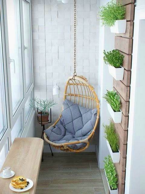 A modern balcony with plants