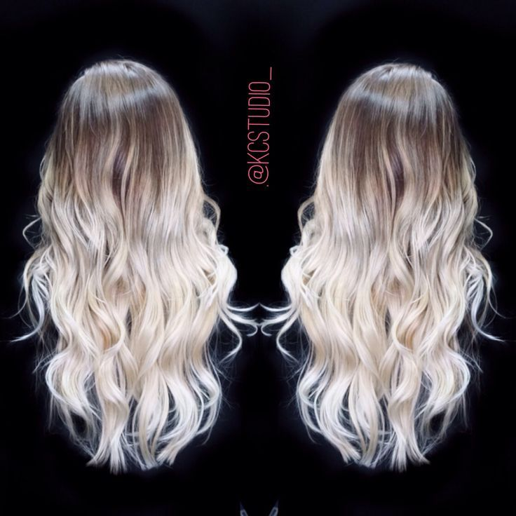 Ombre Balayage Platinum Blonde Long Hair Ombre Hair Blonde Hair Styles Long Blonde Hair
