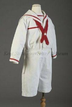 1900-1925 Boy's sailor suit via Kent State University Museum