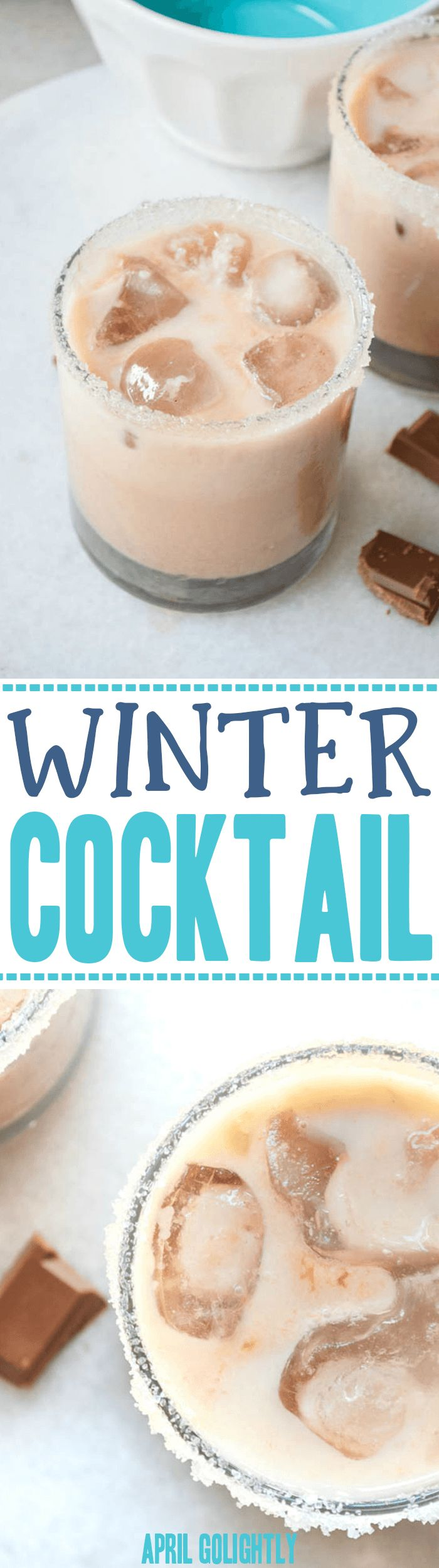 Easy Winter Cocktail Recipe with Vodka or Vanilla Vodka - also recipe for mocktail - perfect for holiday parties and beyond