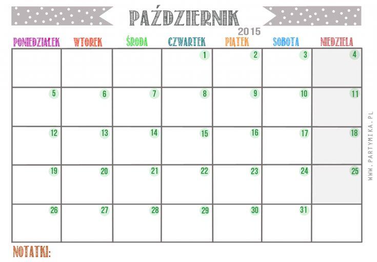 Kalendarz na rok 2015 do druku! - partymika