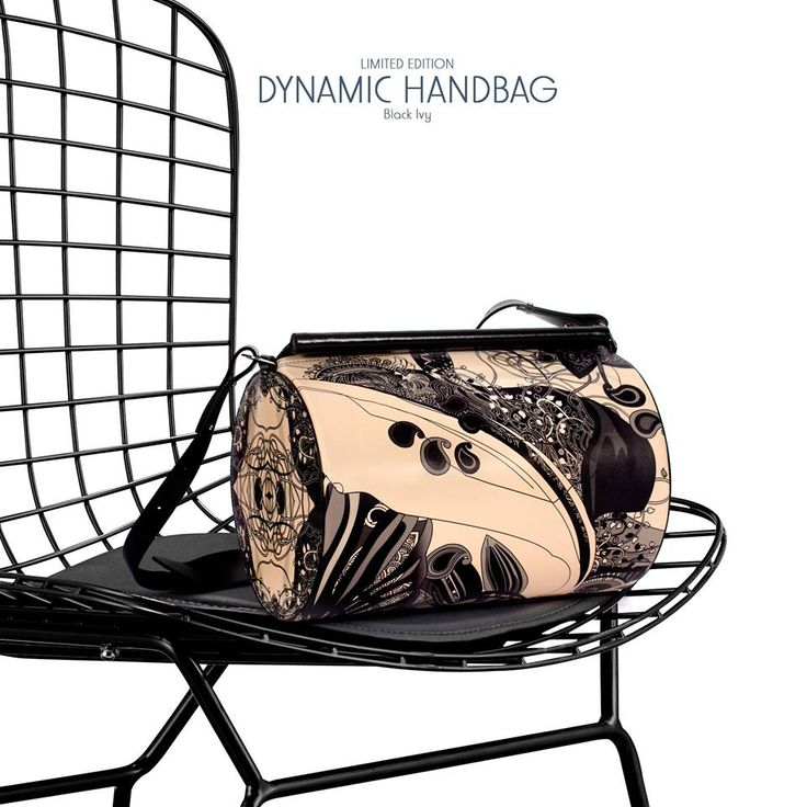Imagine that you are in the middle of a garden and you are the Black Ivy.  #LimitedEditionBags #PrintsAndTheCity
