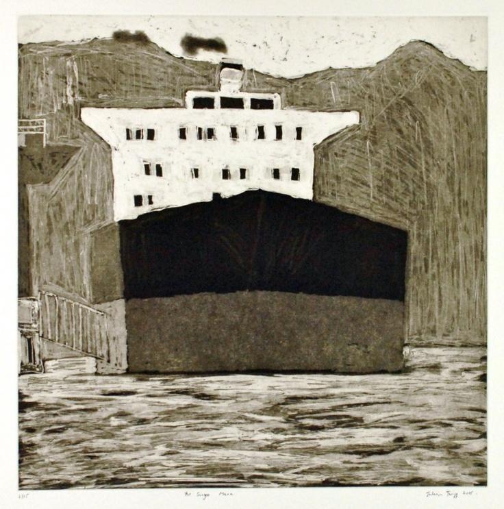 The Sanyo Maru, 2006  Artist: Julian Twigg  Medium: Etching  Dimensions: 49.5 x 49 cm  Edition: 15