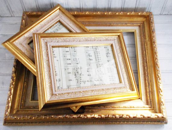 Mbs 3 Piece Gold Frame Set Ornate Gold Frames Picture Frames Gallery Wall Decor Vintage Gallery Wall Decor Frame Set Frame