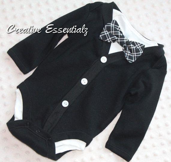 Baby Cardigan and Bow Tie Set, Smash Cake Outfit, Baby Bowtie One Piece Bodysuit, Bow Tie Bodysuit, Baby Bodysuit, Photo Prop, Baby Tuxedo