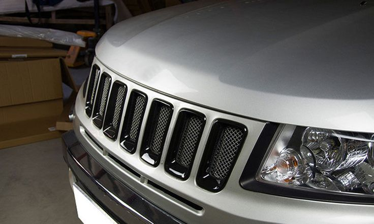 Stainless Front Grille Mesh Cover Grill Insert Jeep Grand Cherokee 2014-2016 Black - Mad Hornets