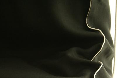 BLACK DUVET COVER by PuroLino.it