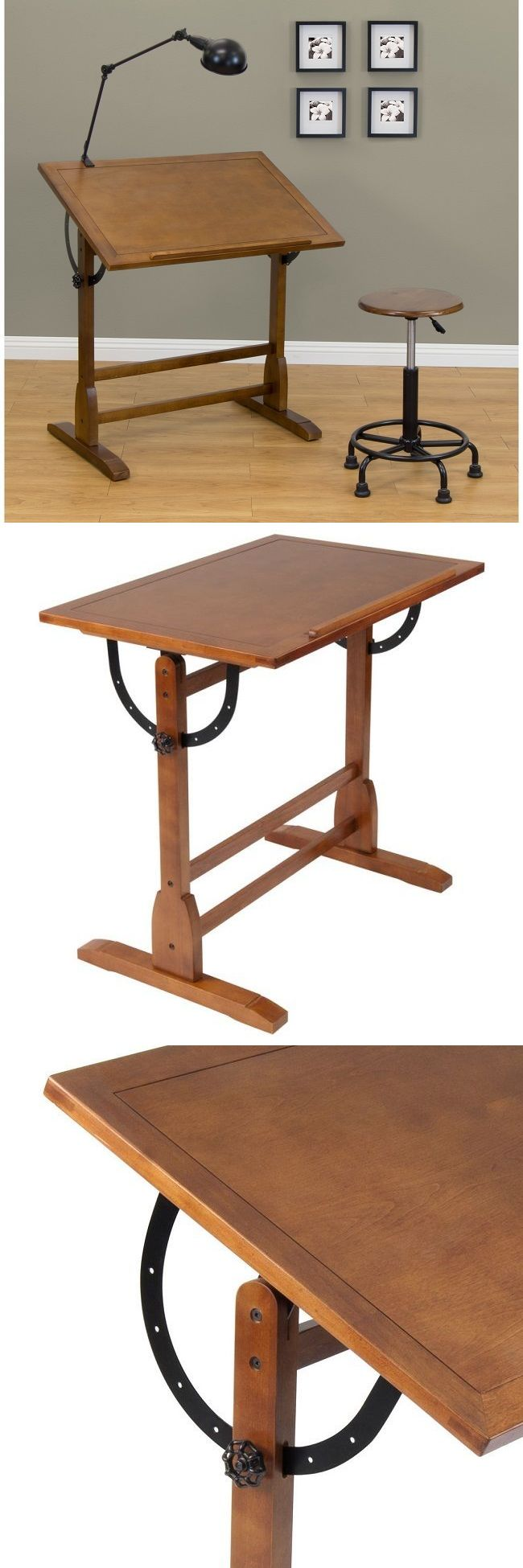 Drafting table home design ideas how to choose the best drafting - Drawing Boards And Tables 183083 Wood Drafting Table Hobby Drawing Rustic Office Work Station Adjustable