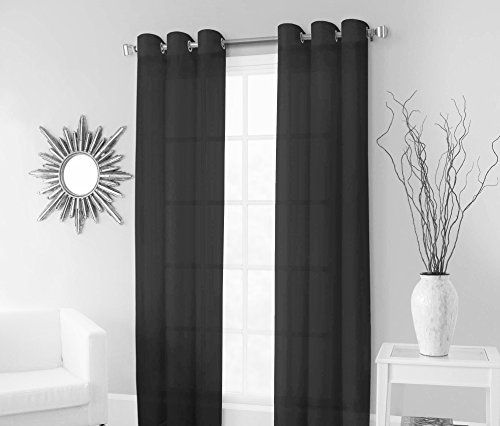 17 best ideas about Black Sheer Curtains on Pinterest | Blockout ...