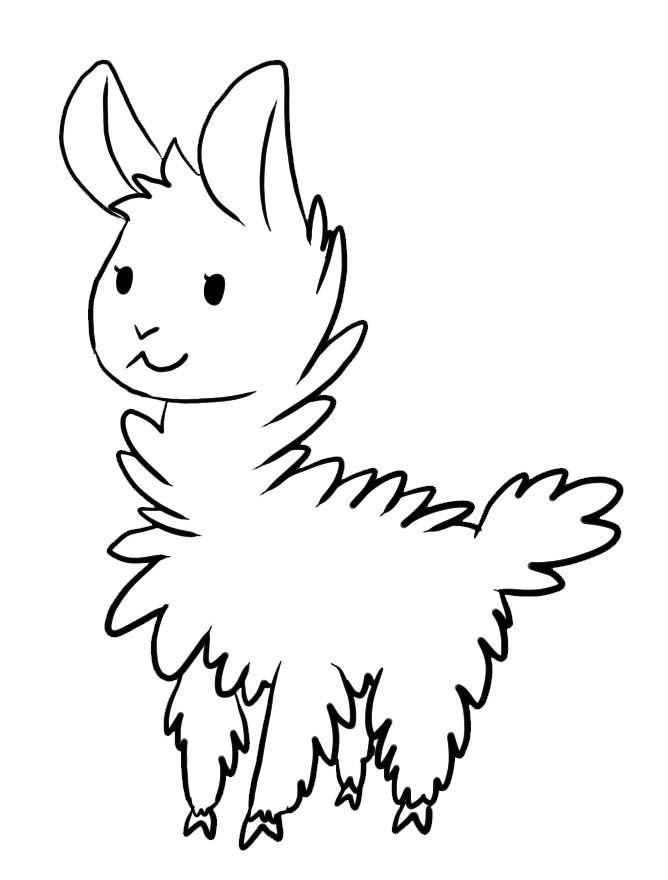 Llama Coloring Pages Kartun Llama Drawing Coloring Pages For
