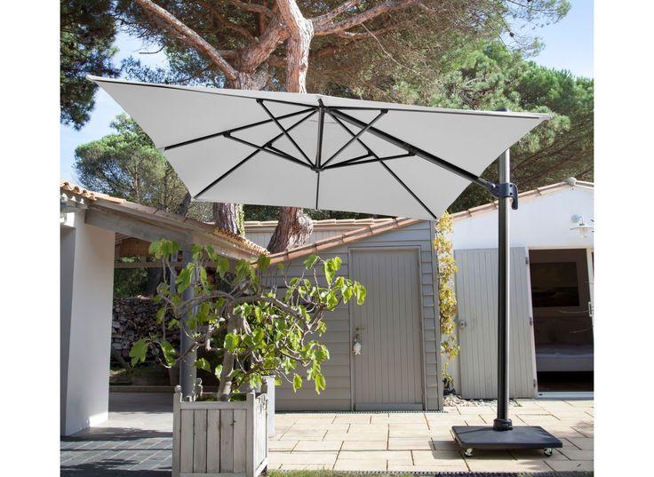 Parasol déporté 3x4 m - Parasols droits et déportés - Proloisirs - Spécialiste du mobilier de jardin contemporain