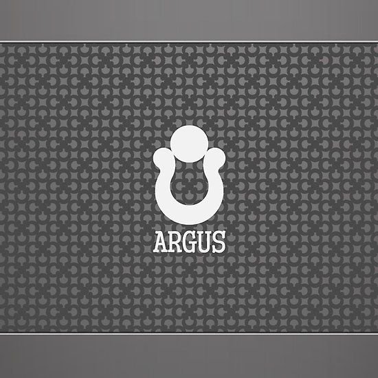 Argus logo prototype. For sale. You can get it now.