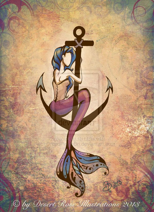 Mermaid Anchor by DreadPirateBri I would like something with these two together.