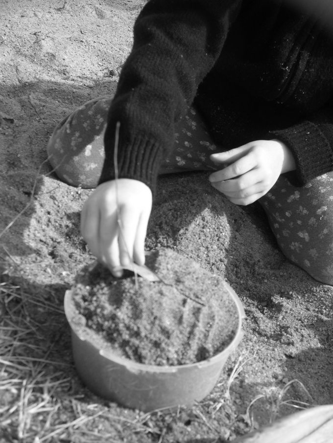 bygge sandkasse