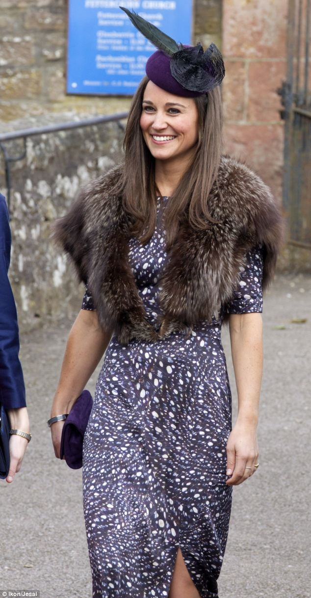 Pippa Middleton attended a friends wedding in Aberdeenshire on Saturday