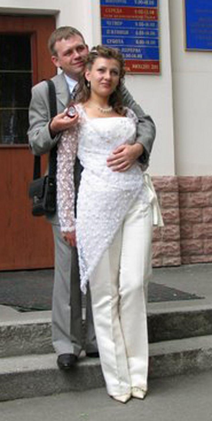 Брючный костюм невесты