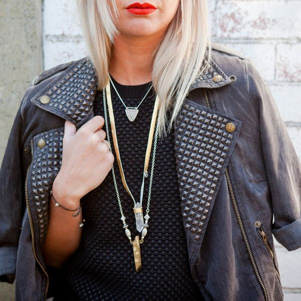 PYROS Gold Quartz Necklace By Novella Ria