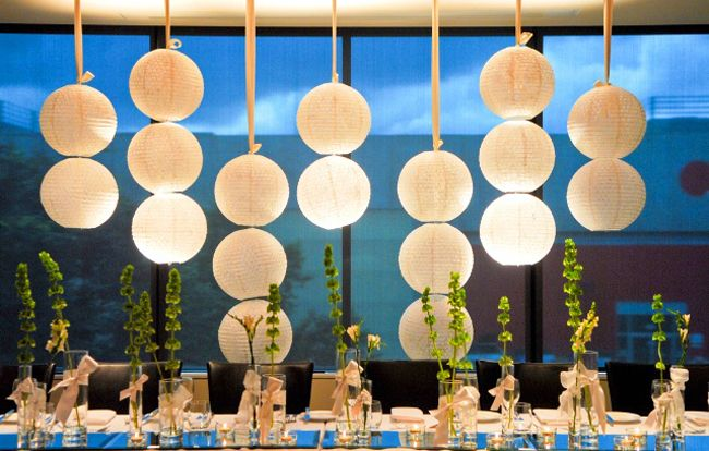 hanging paper lanterns vertically