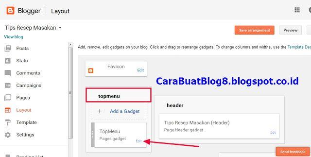 Cara Membuat Menu Di Blog http://carabuatblog8.blogspot.com/2016/12/cara-membuat-menu-di-blog-tanpa-edit.html