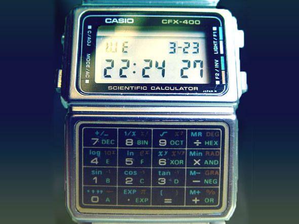 Casio CFX-400, relógio inteligente de 1985 que também servia como calculadora científica