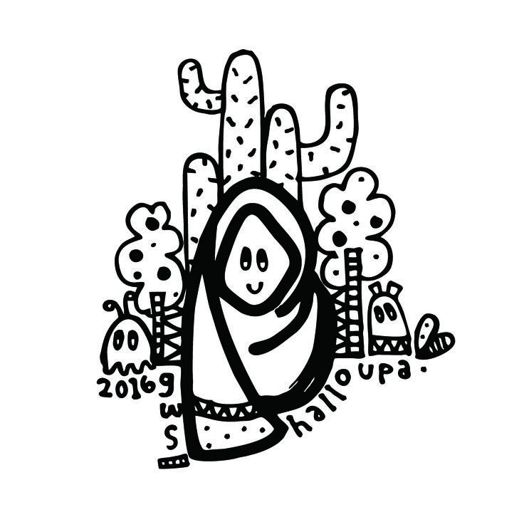 Get Well Really Soon, Upa! - Lini Katahati 2016. Doodle - Doodleart