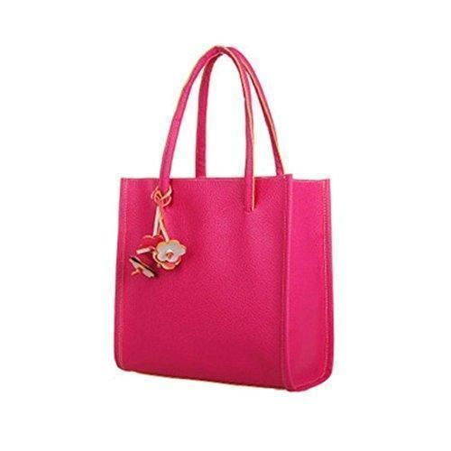Oferta: 9.99€. Comprar Ofertas de Tongshi Moda bolsos chicas elegantes de cuero bolso de color caramelo florece totalizador de las mujeres (Rosa caliente) barato. ¡Mira las ofertas!