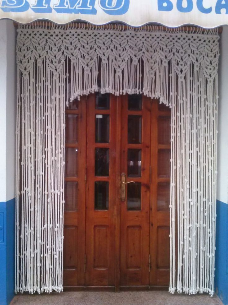628 best macrame images on pinterest macrame wall for Cortinas originales