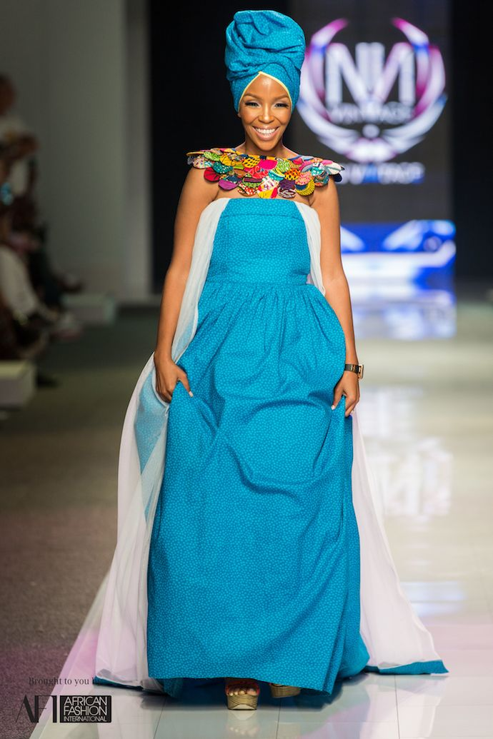 The lady of the moment Nhlanhla Nciza in one of her creations