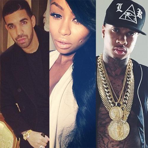 Drake, Blac Chyna and Tyga.