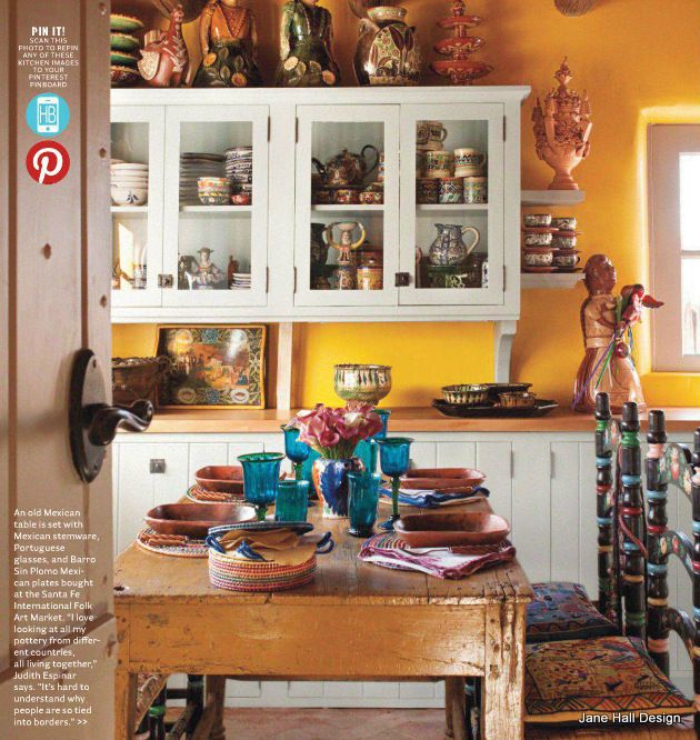 French Country Style Kitchen With Daffodil Yellow Walls
