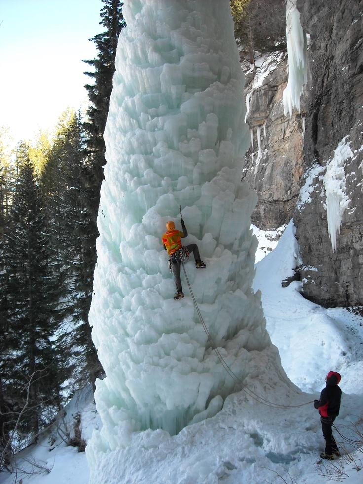Climbing The Fang in Vail, Colorado