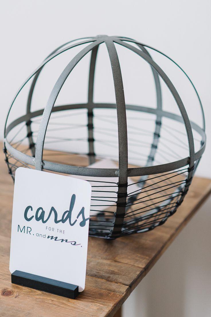 Modern Black White Chicago Wedding Card BoxesWedding