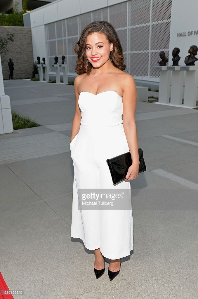 Actress Sarah Jeffery attends a Television Academy event for NBC's 'Shades Of Blue' at Saban Media Center on June 9, 2016 in North Hollywood, California.