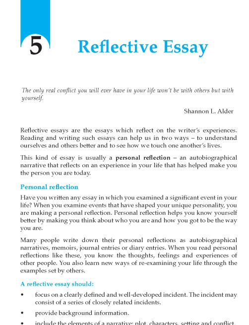 structure penning reflective essays