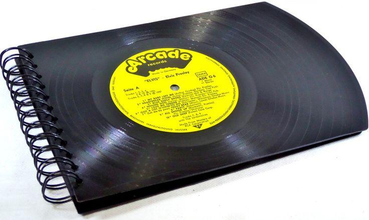 XXL Fotoalbum Elvis Fotobuch Fotomappe von VinylKunst Aurum - Schallplatten Upcycling der besonderen ART auf DaWanda.com